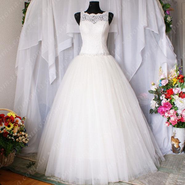 Свадебные платья майкой