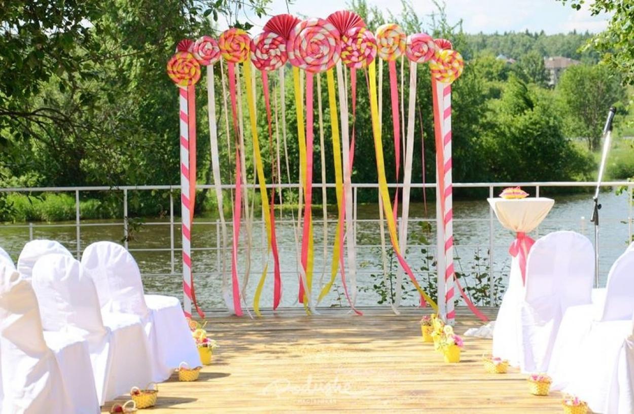 Варианты арки для свадьбы своими руками 7
